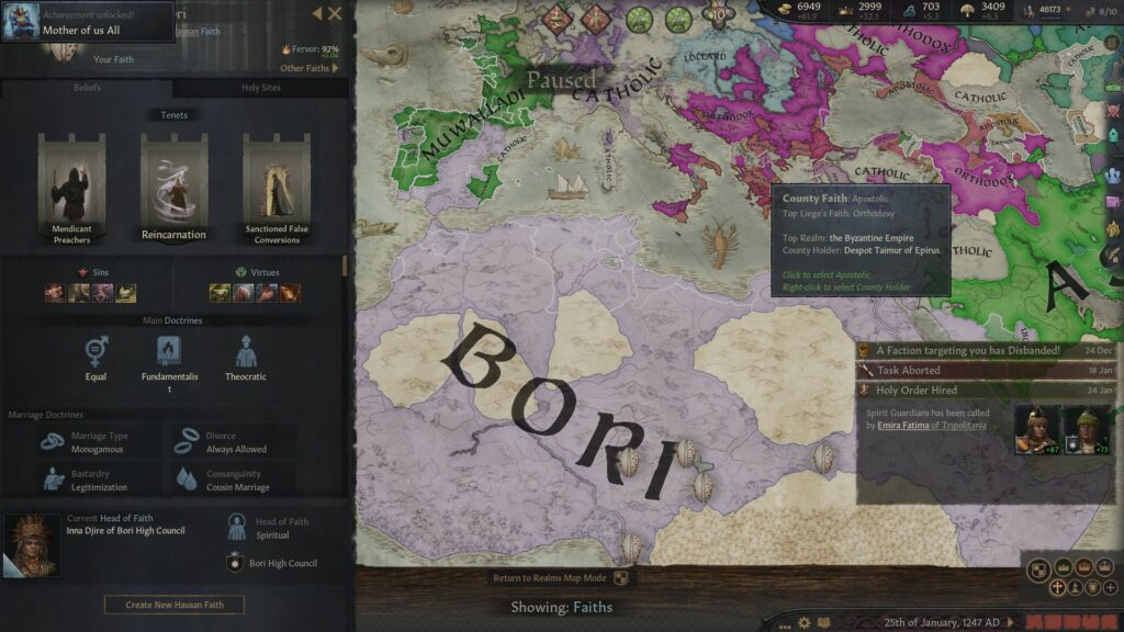 Crusader Kings III - The Mother Of Us All Achievement