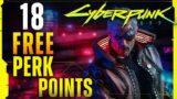 All perk shard locations in Cyberpunk 2077 (free 18 perk points)