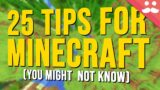 Minecraft Tips And Tricks You Might Now Know 2021