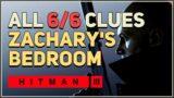 Hitman 3 – Zachary's Bedroom – All 6 Clues