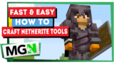 Minecraft: Fast and Easy Way To Make Netherite Tools