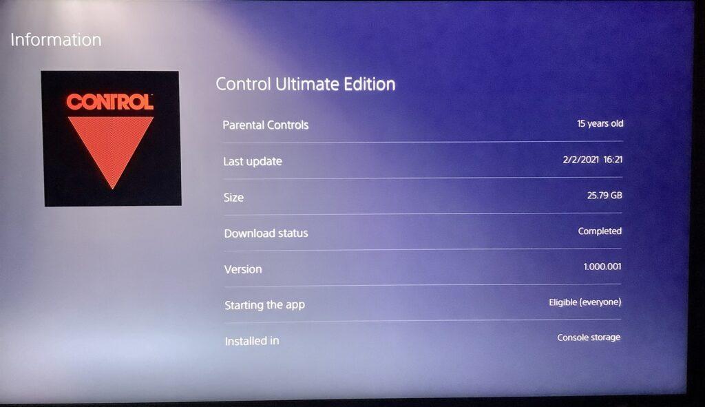 PS 5 - UE Ultimate edition compression