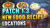 New Recipes Locations And Special Dish! Genshin Impact 1.3 Guide Xiao Best Husbando