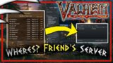 Valheim Can't Find Friends Server