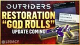 "Outriders – Item Restoration NEW Details | Legendaries, ""God Rolls"", And New Timeline"