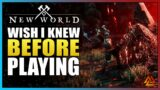 New World TOP 10 Things I Wish I Knew BEFORE Playing!