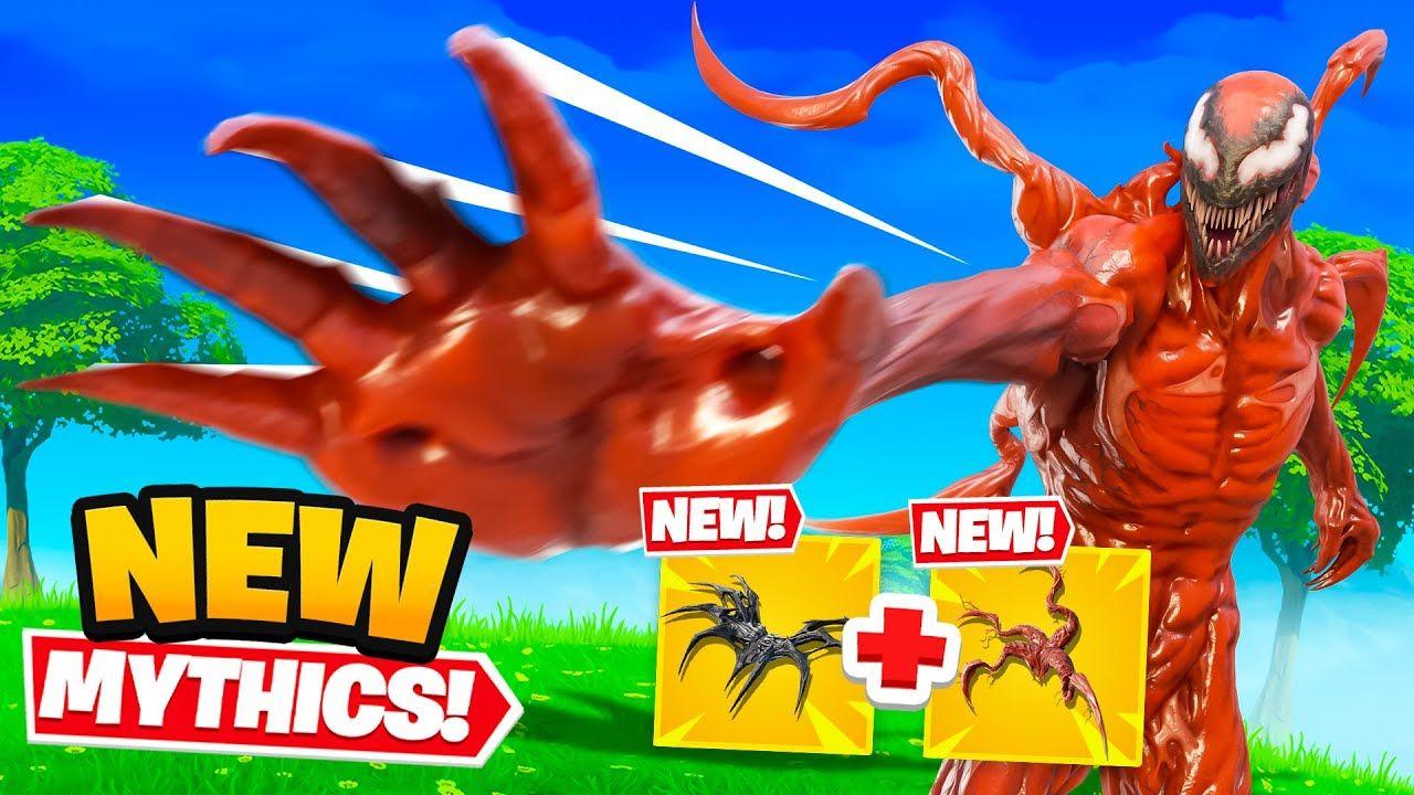 Carnage and Venom Mythics in Fortnite